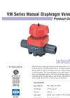VM Manual Valves PRODUCT Data Sheet